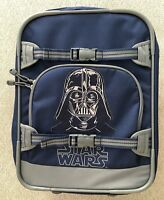 Pottery Barn Kids Star Wars Darth Vader Embroidered Navy Blue Rolling Suitcase