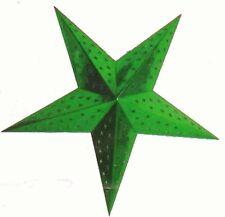 étoile en carton vert metallisé à suspendr decor decoration fetes noel nouvel an