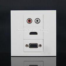 Wall Face Plate RCA AV + HDMI + VGA Coax Coaxial Assorted Panel Covers Faceplate