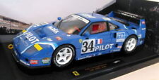 Voitures de courses miniatures bleus Hot Wheels 1:18