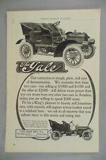 Yale Automobile PRINT AD - 1905 ~~ auto, motor car, Kirk Mnfg, Toledo