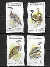 BOPHUTHATSWANA 1983 Bustards set of 4  BIRDS . MINT NH
