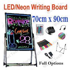 90x70cm Led/neon/fluorescent Writing Menu Board Whiteboard Flash Signage Sign