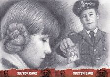 The Wicker Man Andy Fry Dual Sketch Card Best of Unstoppable Cards b