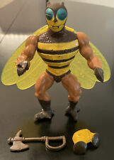 Vtg MOTU He-Man Masters of the Universe BUZZ OFF 100% Complete Figure
