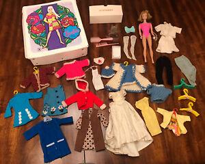 Vtg 1960s Mod doll Barbie case lot clothes clothing Midge Japan Hong Kong