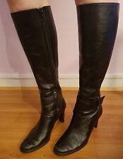 Joanne Mercer Knee High Black Leather Boots (Zara Size 40)