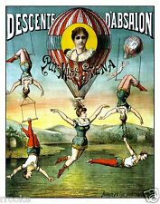 Descente d'Absalon par Miss Stena Hot Air Balloon Act Fine Art Print