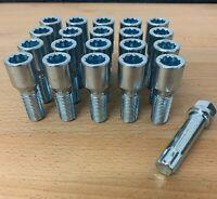 20 x alloy wheel Tuner Slim bolts M14 x 1.5, 17mm Hex star key, taper for VW