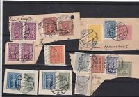 austria 1922 stamps cancelled on piece  ref 12095