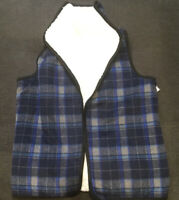 Nordstrom Rack Faux Fur Lined Sleeveless Vest Blue Paid One Size Reversible