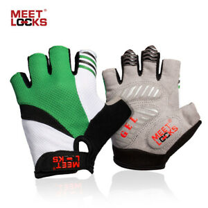 Cycling Bike Half Finger Gloves with Silicone Gel Pad Sports For Child and Women