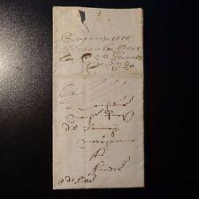 """1666 LETTRE COVER """"P DE LILLE"""" MANUSCRIT (PORT DE LILLE) ROUBAIX POUR ANVERS"""