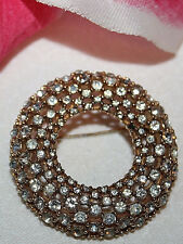 CINER SIGNED GOLD TONE RHINESTONE PIN - STUNNING AND BEAUTIFUL as is
