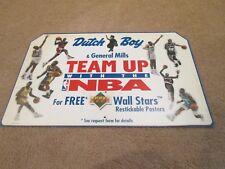 "RARE 1992 DUTCH BOY & GENERAL MILLS NBA BASKETBALL POSTER- 17 x 26""; JORDAN SHAQ"