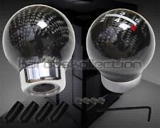 REAL CARBON FIBER ROUND BALL 5SPEED SHIFT KNOB LANCER 3000GT ECLIPSE WRX STI