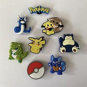 8 Stück Pokemon Schuhstecker  shoe charms, pin, charms für Clogs Neu