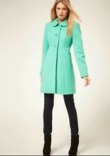 BNWT Oasis 60's Button Coat in Green size M RRP £90