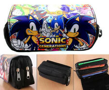 Sonic the Hedgehog Pencil Case Pen Stationery Bag Makeup Office School Supplies
