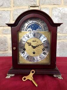 Vintage HERMLE Bracket Clock,MOON PHASE,Westminster Chime,Working,German,Ornate