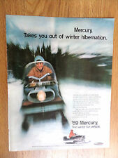 1969 Mercury Snowmobile Ad  Takes you out of Winter Hibernation