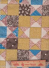 Vintage Cheater Quilt Patchwork cotton Fabric 2 yards