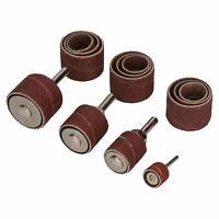 20pc Sanding Grinding Drum Set 13mm – 32mm Drums 16 x Belts 80 + 120 Grit