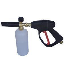 Adjustable Car Washer Gun Spray Snow Soap Foam Bottle 1L + Lance Gun 5 Nozzles