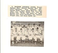 Bonner Springs Lions Kansas 1953 Baseball Team Picture