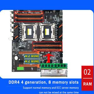 X99 CPU Motherboard DDR4 8 DIMM Four Channel Dual Xeon LGA PC PC Mainboard 1pcs
