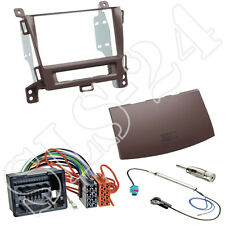 Opel Zafira Tourer 2-DIN Radioblende braun+ ISO Adapterkabel + Antenne Einbauset