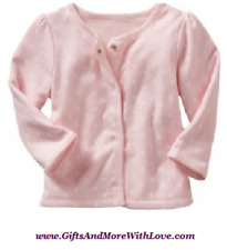 Baby Gap NWT Powder Pink REVERSIBLE POLKA DOTS STRIPE CARDIGAN JACKET 0 3 Months