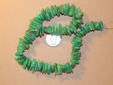 Chrysophrase Nugget Beads 20x5mm from Australia (8864)