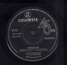 "CLIFF RICHARD & THE SHADOWS – Bachelor Boy (1962 UK VINYL SINGLE 7"")"
