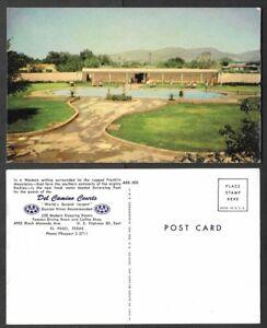 Old Texas Postcard - El Paso - Del Camino Courts - Swimming Pool