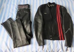 Lewis Leathers Vintage 2-Piece Leather Biker Suit