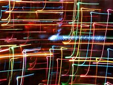LIGHT COLOUR NEON TRACES TRAIL POSTER ART PRINT HOME PICTURE BB78A