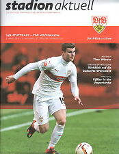Programm Stadionheft 15/16 VfB Stuttgart TSG Hoffenheim 05.03.2016