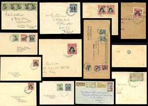 COOK ISLANDS 1948-56 ENVS to GB USA NZ CANADA GERMANY etc PENRHYN AITUTAKI etc