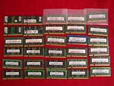LOT 30 DDR2 PC2 LAPTOP RAM modules  (30x1gb) , Used good.