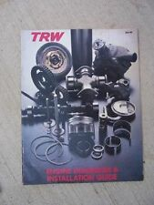 1978 Trw Internal Combustion Engine Diagnosis Installation Manual Guide K