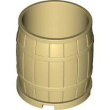 LEGO - Minifig Accessory - Large Wood Barrel - 4 x 4 x 3.5  - Tan