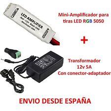 Kit Mini Amplificateur pour Bandes Led RGD + Transformateur 5A 5050 3528