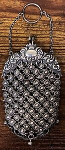 Antique Sterling Silver Chainmail Chain Mail Coin Purse Very Nice! 194