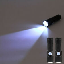 1x 2000 Lumen Mode Q5 LED Taschenlampe USB Rechargeable Flashlight & Lanyard