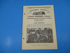 1940's Diesel Training National Schools Lesson #TD-6 Power Calculations 20p M942