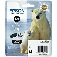 Genuine Epson 26 Photo Black T2611 Ink for Expression XP-610 XP-615 XP-620