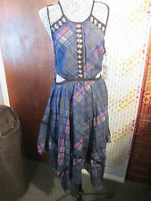 Fantastic FREE PEOPLE F P One, cutout waist dress w/peekaboo lace effect,size M