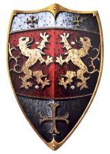 Battle Merchant Kinderschild Holzschild Ritter vom Löwenfels 49x32cm Mittelalter