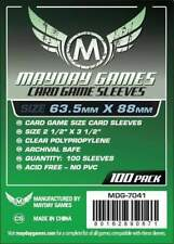 MAYDAY GAMES Standard Size Board Game Card Sleeves Clear 63.5 x 88mm 100ct